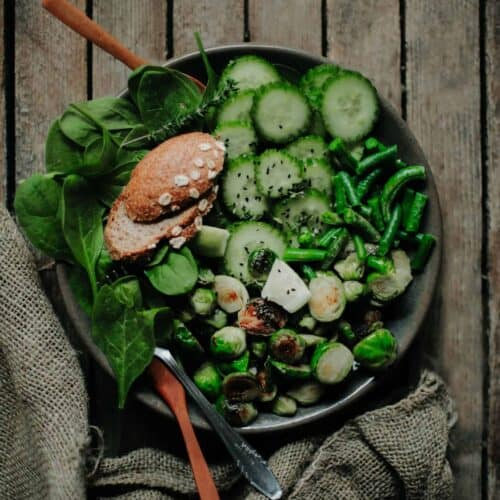 green-salad-with-bread-scaled